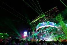 L'Arc-en-Ciel「L'Arc-en-Ciel LIVE 2014 at 国立競技場」の様子。