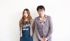 左から片平里菜、亀田誠治。