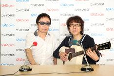 左から吉田拓郎、坂崎幸之助(THE ALFEE)。