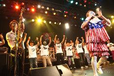 ニューロティカ「30周年記念ワンマン『8人だよ! 全員集合!』」東京・TSUTAYA O-EAST公演の様子。