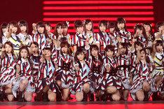 NMB48による「イビサガール」歌唱の様子。 (c)AKS