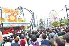 「ソニレコ!暇つぶしTV 祝★1周年記念!ワクドキの公開収録! IN 富士急ハイランド」の様子。