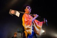 """「J-WAVE×HOT STUFF """"LIVE OASIS""""」でのレキシ。 (撮影:仁礼博)"""
