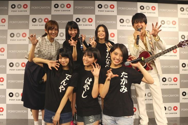 「虎ノ門道場」に出演したベイビーレイズ、菊地亜美、AMEMIYA。