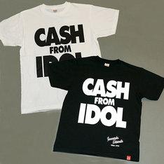「CASH FROM IDOL」Tシャツ復刻版はブラック&ホワイトの2種類。