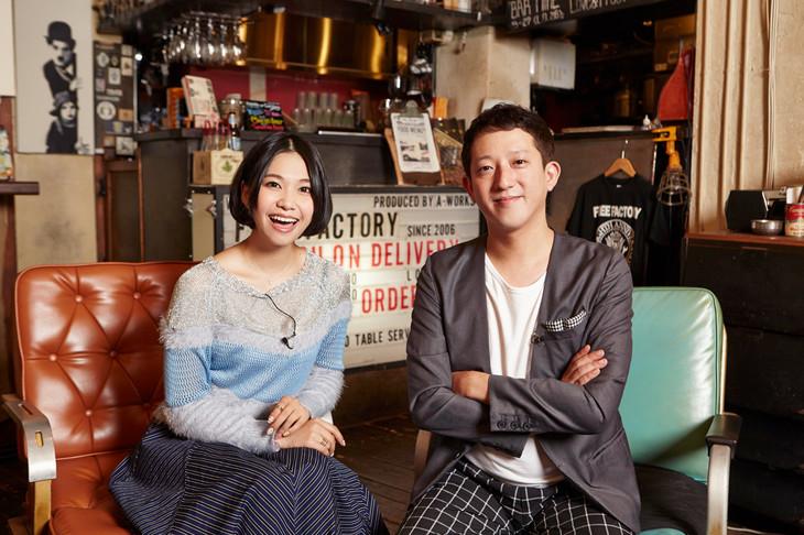 「MUSIC GOLD RUSH」のMCを務める西脇彩華(9nine)、高橋茂雄(サバンナ)。