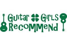 「guitar girls recommend powered by M-ON!」ロゴ