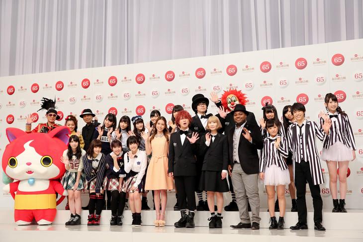 「第65回 NHK紅白歌合戦」出場者発表記者会見の様子。