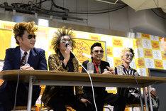 昨年11月に東京・タワーレコード新宿店にて行われた「SA 重大プロジェクト始動会見イベント」の様子。