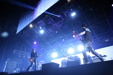 BOOM BOOM SATELLITES「COUNTDOWN JAPAN 14/15」12月28日公演の様子。