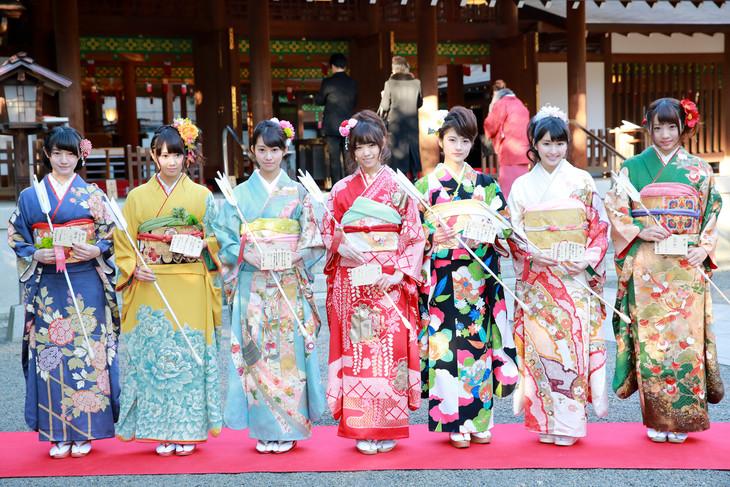 成人式を行った乃木坂46の新成人メンバー。