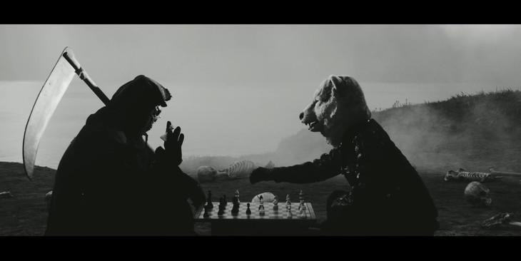 MAN WITH A MISSION「Seven Deadly Sins」のビデオクリップのワンシーン。