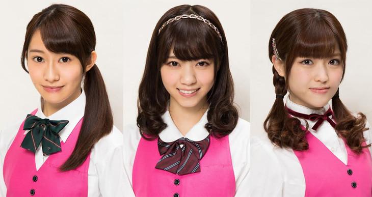 「連続ドラマW 天使のナイフ」に出演する乃木坂46の3人。左から桜井玲香、西野七瀬、松村沙友理。