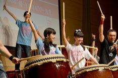 「『倭-YAMATO-の太鼓塾』の授業」2時限目の様子。