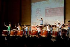 「『倭-YAMATO-の太鼓塾』の授業」1時限目の様子。