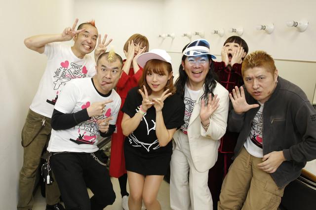 イベントに参加したが~まるちょば、バクバクドキン、篠崎愛、掟ポルシェ、吉田豪。(Photo by Hajime Kamiiisaka)