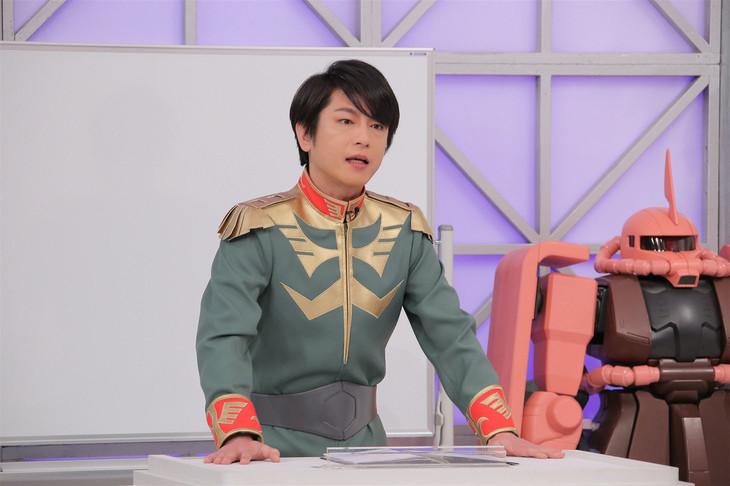 ガルマ・ザビの衣装で講義する及川光博。 (c)日本テレビ