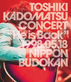 """角松敏生「TOSHIKI KADOMATSU CONCERT """"He is Back"""" 1998.05.18 日本武道館」Blu-ray盤ジャケット"""