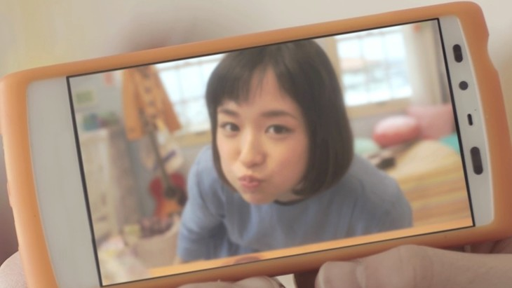 大原櫻子「無敵のガールフレンド」ビデオクリップのワンシーン。