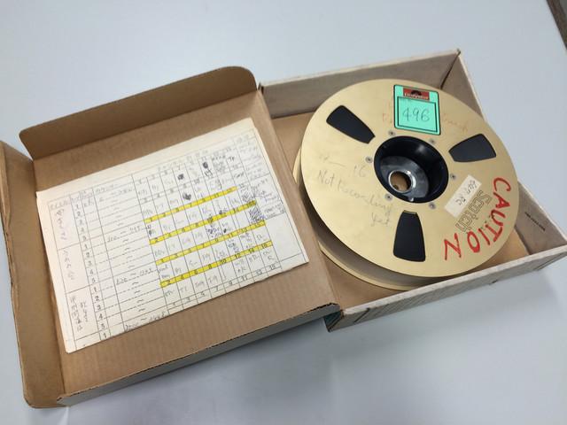 レコード会社の倉庫から発掘されたRCサクセション「シングル・マン」マルチトラックテープ。