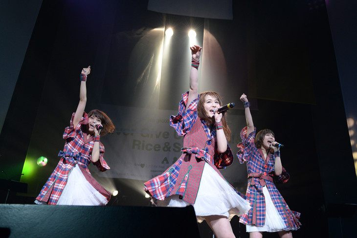 Negicco First Tour「Never Give Up Girls!!!&Rice&Snow」東京公演の様子。