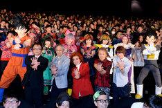 映画「ドラゴンボールZ 復活の『F』」初日舞台挨拶の様子。(c)バードスタジオ / 集英社 (c)「2015 ドラゴンボールZ」製作委員会