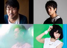 「VIVA LA J-ROCK ANTHEMS!」バンドメンバー。左上から時計回りに亀田誠治(B)、ピエール中野(Dr)、津野米咲(G)、長岡亮介(G)。