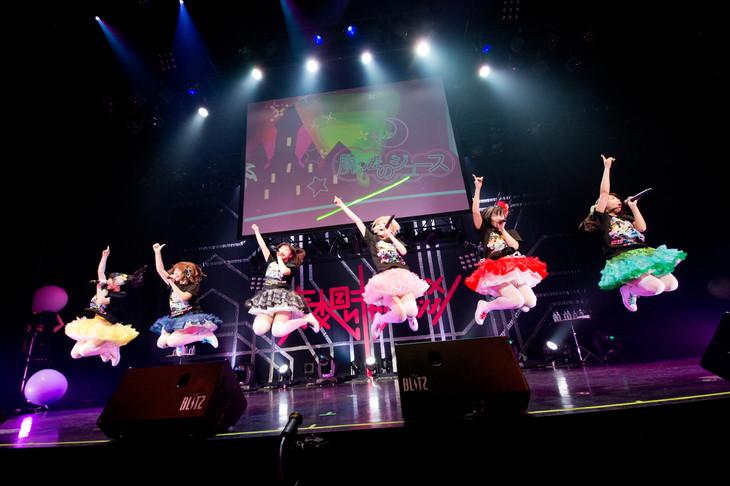 「妄想キャリブレーション LIVE2015春 妄想ファンタジア in 赤坂BLITZ」の様子。