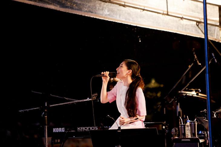 坂本真綾「20th Anniversary Special Live Open Air Museum 2015」の様子。(Photo by MAKOTO HADA)