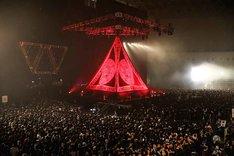 「BABYMETAL WORLD TOUR 2015 ~巨大天下一メタル武道会~」場内の様子。(Photo by Taku Fujii / MIYAAKI Shingo)
