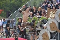 「SASUKE」4回目の出場を果たした天野ジョージ(撃鉄)。 (c)TBS