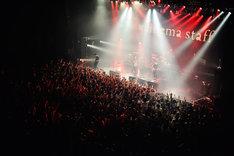 "cinema staff「cinema staff 4th FULL ALBUM [blueprint] release tour ""land=ocean""」東京・Zepp DiverCity TOKYO公演の様子。(撮影:橋本塁[SOUND SHOOTER])"