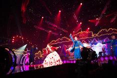 「ayumi hamasaki ARENA TOUR 2015 A(ロゴ) Cirque de Minuit ~真夜中のサーカス~」横浜アリーナ公演の様子。 (写真提供:エイベックス・ミュージック・クリエイティヴ)
