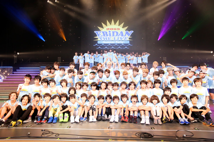 「EBiDAN THE LIVE 2015 ~ Summer Party ~」の全出演者。(撮影:笹森健一)