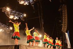 私立恵比寿中学「エビ中 夏のファミリー遠足 略してファミえん in 長岡2015」の様子。