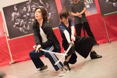川栄李奈による舞台「AZUMI 幕末編」公開舞台稽古の様子。