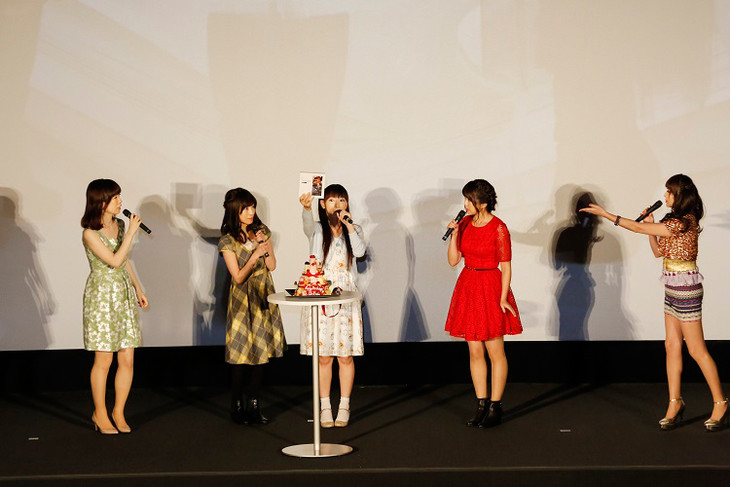 "「Aice5 Final Party"" Last Aice5""」プレミアム上映会の様子。(写真提供:EVIL LINE RECORDS)"