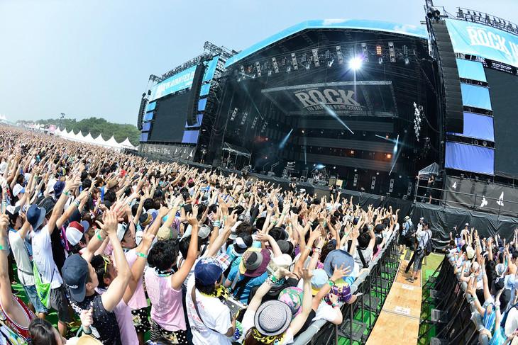 「ROCK IN JAPAN FESTIVAL 2015」の会場の様子。