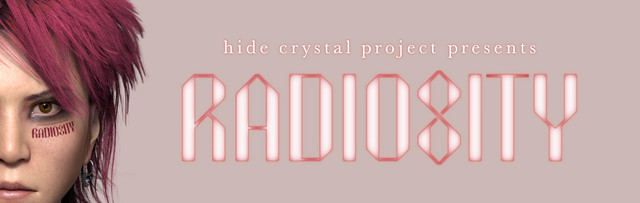 「hide crystal project presents RADIOSITY」キービジュアル