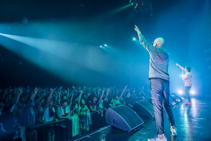RHYMESTER「KING OF STAGE VOL. 12 Bitter, Sweet & Beautiful Release Tour 2015」Zepp DiverCity TOKYO公演の様子。(Photo by cherry chill will)