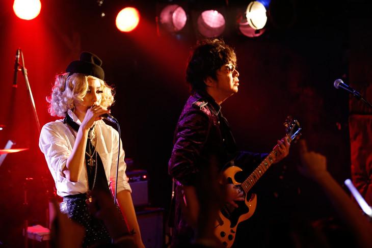「MIKA RANMARU ~MIKA NAKASHIMA 15th ANNIVERSARY~ ROCK'N' ROLL LIVE」の様子。(撮影:川田洋司)