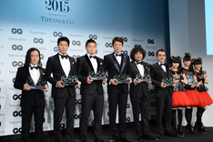 「GQ Men of the Year 2015」授賞式の登壇者。