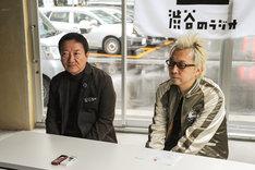 「渋谷のラジオ」開局時の取材の様子。