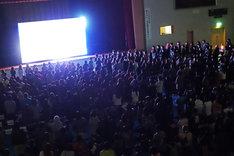 X JAPANの宮城・石巻BLUE RESISTANCE公演のライブビューイング会場の様子。
