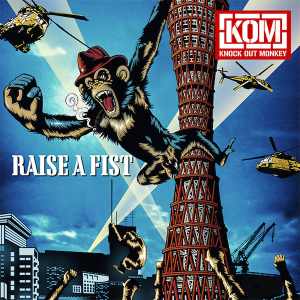 KNOCK OUT MONKEY「RAISE A FIST」CD盤ジャケット