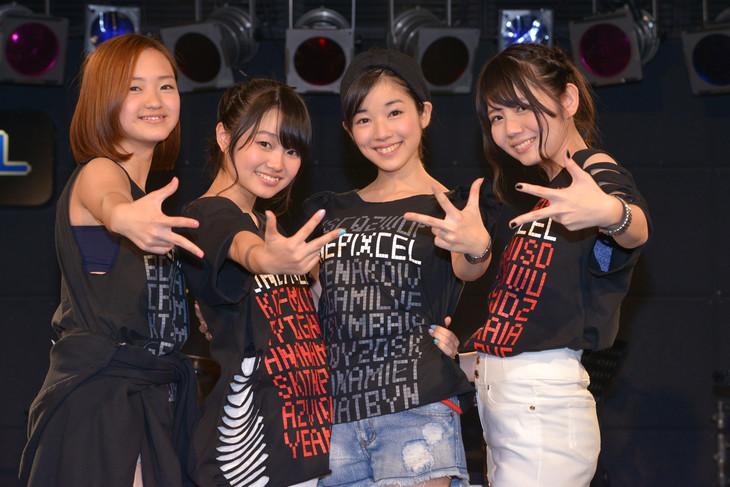 OnePixcel。左から狐塚来愛、鹿沼亜美、傳彩夏、田辺奈菜美。