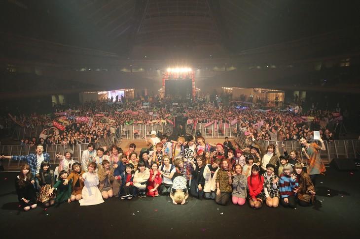 「MOSHI MOSHI NIPPON FESTIVAL 2015 in TOKYO」11月7日公演のフィナーレの様子。 (写真提供:もしもしにっぽんプロジェクト)
