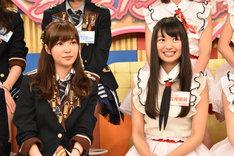 左から指原莉乃(HKT48)、北原里英(NGT48)。
