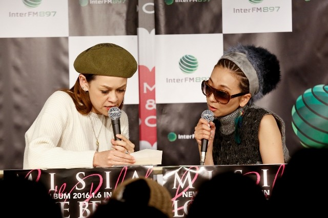 InterFM897「MISIA『LOVE BEBOP』Special」公開収録の様子。