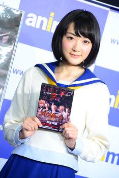 前作「コープスパーティー」Blu-ray / DVD発売記念イベントでの生駒里奈。